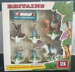 Britains Deetail 7422 Confederate Forces Boxed Set Rare Vintage BNIB 1973