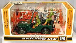 Britains Deetail # 9786 U. S. Machine Gun Jeep painted metal 1st version MIB