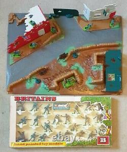 Britains Deetail Battleground Set & Boxed Set British & Germans- Ref 4715 & 7348