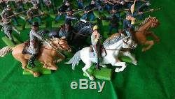 Britains Deetail CIVIL War Set Of 50 10 Mounted 40 Infantry