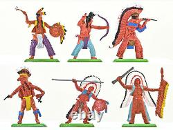 Britains Deetail Indians 48 foot figures 2nd version # 7540 mint in box
