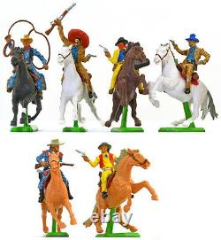 Britains Deetail Mounted Cowboys 18 Figures 2nd version # 7639 mint in box