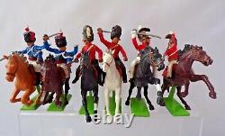 Britains Deetail Napoleonic British Cavalry Set Of Six Plastic Soldiers 1.32