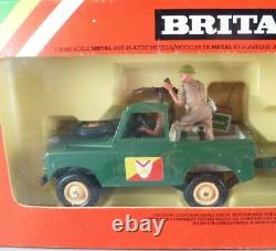 Britains Deetail WW2 Anglais Véhicule Land Rover & Canon Neuf Boite Réf 9