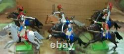 Britains Deetail Waterloo French Cavalry Set of 6 & still Mounted on the card