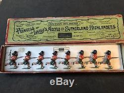 Britains EARLY Boxed Set 15 Argyle & Sutherland Highlanders. Pre War c1910