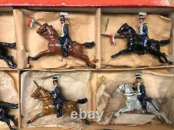 Britains EXTREMELY RARE Boxed Display Set 10 17th Lancers. Pre War c1896