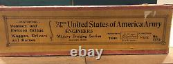 Britains Extremely Rare Boxed Set 1373 US Army Engineers. Pre War c1935