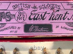 Britains Extremely Rare Boxed Set 16 The Buffs, Khaki Version. Pre War, 1900