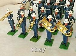 Britains Eyes Right Plastic Royal Marines Regimental Band & Soldiers 45 Pcs