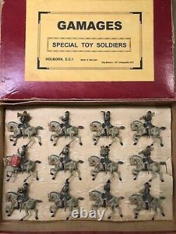Britains For Gamages VERY RARE Boxed Set 101 Life Guards Band (Blue) c1900