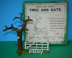 Britains France Depose Vintage 1910 Boxed Lead Home Farm Series #7f Tree & Gate