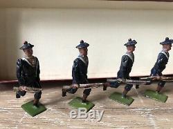 Britains From Rare Boxed Set 143 French Matelots Running At Trail. Pre War