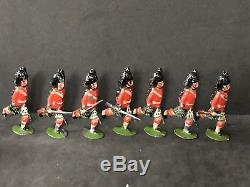 Britains From Set 11 First Version Plug Handed Highlanders Circa 1893