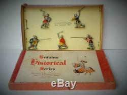 Britains Historical Series Vintage 1954 Boxed Lead Knights Of Agincourt Set 1664