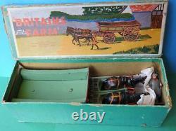Britains Home Farm Post War Version Lead Rare Boxed #5f Farm Waggon With Carter