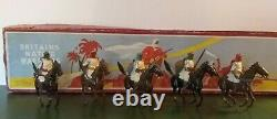 Britains Lead Soldiers 5 Pc Set Native Warriors Mounted Arabs Rare Org Box #164