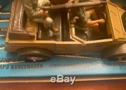 Britains Ltd 132 German WWII AFRIKA KORPS KUBELWAGEN + SOLDIERS #9785