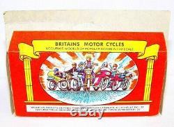 Britains Ltd 132 German WWII HALF TRACK + SIDECAR MOTORCYCLE & INFANTRY MIB`74