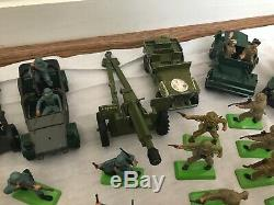 Britains Ltd Deetail WWII Toy Soldiers & Vehicles 1970s Vintage Lot 89 Total