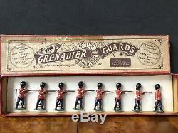 Britains Partial Boxed Set 34 Grenadier Guards. 1st Version Circa 1900