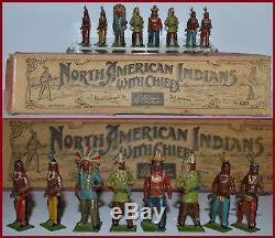 Britains Pe-War Set #150 North American Indians (Whisstock Box) AA-9661