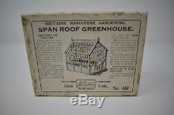 Britains Pre War Lead Miniature Garden -BOXED 053 SPAN ROOF GREENHOUSE