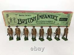 Britains Pre-War Set #195 British Infantry at Trail AA-10652 Beautiful Figures