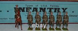 Britains Pre-War Set #242 U. S. A. Forces Infantry
