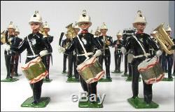 Britains Pre-ww2 Set 1291 Royal Marines Band + Box + 14 Additional Bandsmen