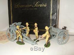 Britains Premier 8915 4.5 Howitzer & Limber and 4 Man Foreign Service Detachmt