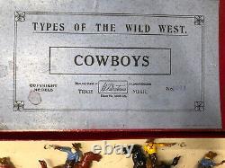 Britains RARE Boxed Display Set 320A Cowboys. Pre War, c1932. Unlisted
