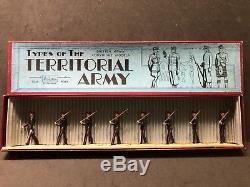 Britains RARE Set 1537 The Territorials. Blue Uniform. 1937 Issue With Box