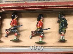 Britains Rare 1st Version Boxed Set 77 Gordon Highlanders. Pre War c1900