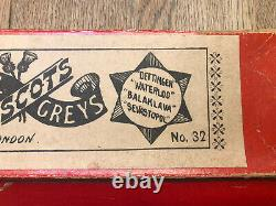 Britains Rare 2nd Version Boxed Set 32 Scots Greys. Pre War c1900