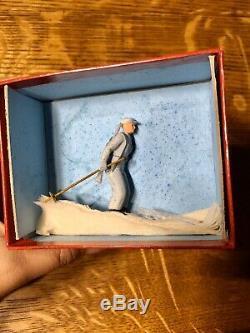 Britains Rare Boxed #2037 Ski Trooper Post War Pre-Owned