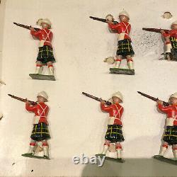 Britains Rare Boxed Display Set 1325 Gordon Highlanders Firing. Pre War c1935