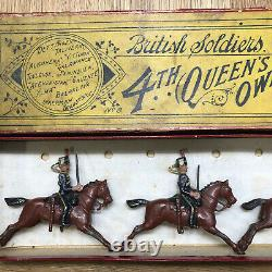 Britains Rare Boxed Set 8 4th Queens Own Hussars. Second Version c1910