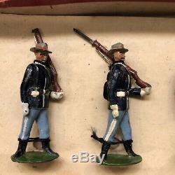 Britains Rare Boxed Set 91 US Infantry. Pre War c1898. 1st Version
