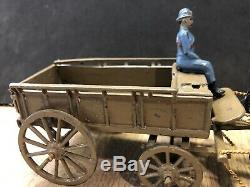 Britains Rare Paris Office French Army 4-Horse General Service Wagon. Pre War