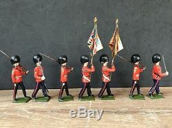Britains Rare Set 460 Color Party Of The Scots Guards. Pre War