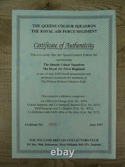Britains Royal Air Force Queen's Colour Squadron Collectors Club Figure Set 1997