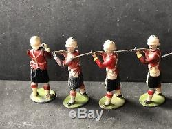 Britains Set 121 First Version Highlanders. Circa 1900