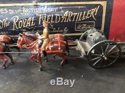 Britains Set 144a Royal Field Artillery. Pre War Uncommon Boxed Set
