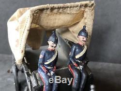 Britains Set 145 RAMC. Pre War. Fumed Metal Finish