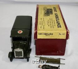 Britains Set #1512 ARMY AMBULANCE withWounded Man + Stretcher. 1932. Original Box