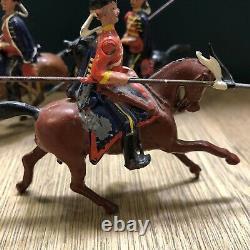 Britains Set 153 Prussian Hussars. C1925. 54mm Metal Figures