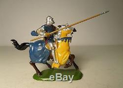 Britains Set #1663 Mounted Knight of Agincourt Charging with Lance & Box