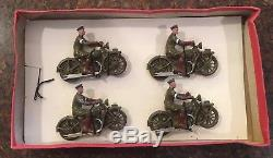 Britains Set #1791 Royal Corps of Signals Dispatch Riders Rarity Index 48