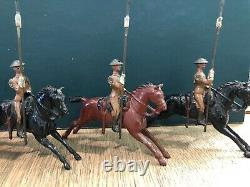 Britains Set 94 21st Lancers In Tin Hats. Pre War c1920